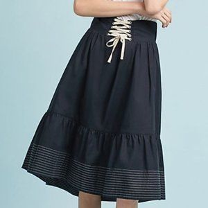 High Low Lace Up Skirt